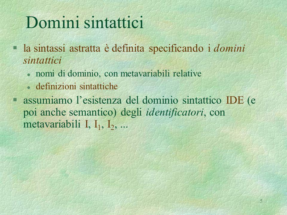 16 Semantica del comando while C ::= ifthenelse(E, C 1, C 2 )   while(E, C 1 )   assign(I, E)   cseq(C 1, C 2 ) env = IDE  dval  store = loc  mval  fun = store  dval  eval § eval = [ int + bool + fun ] §dval = [ loc + int + bool + fun ] §mval = [ int + bool ]  C : COM  env  store  store  C (while(E, C 1 )) =   (  f.