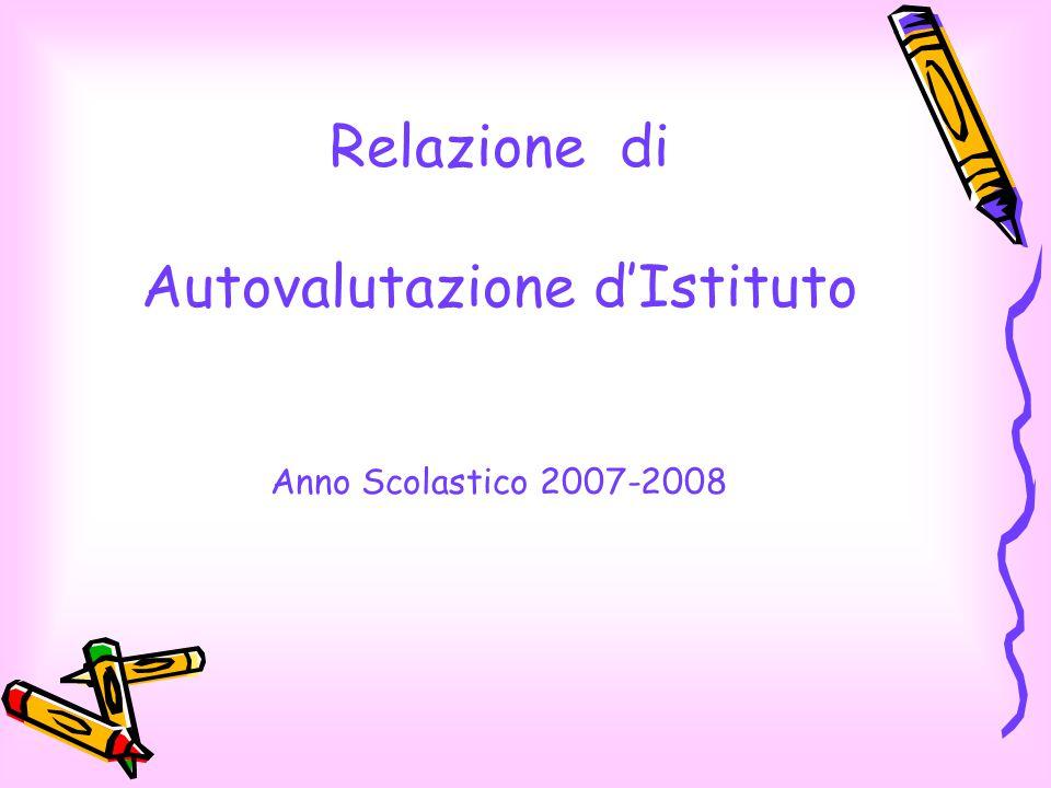 Relazione di Autovalutazione d'Istituto Anno Scolastico 2007-2008