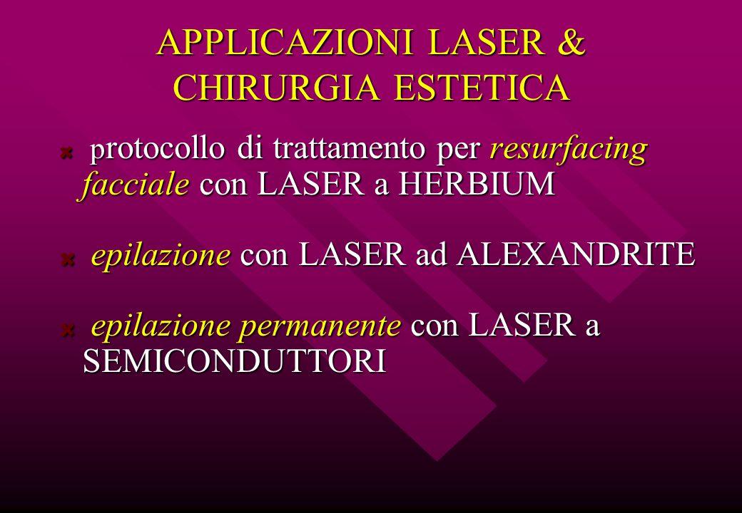 APPLICAZIONI LASER & CHIRURGIA ESTETICA p rotocollo di trattamento per resurfacing facciale con LASER a HERBIUM p rotocollo di trattamento per resurfa