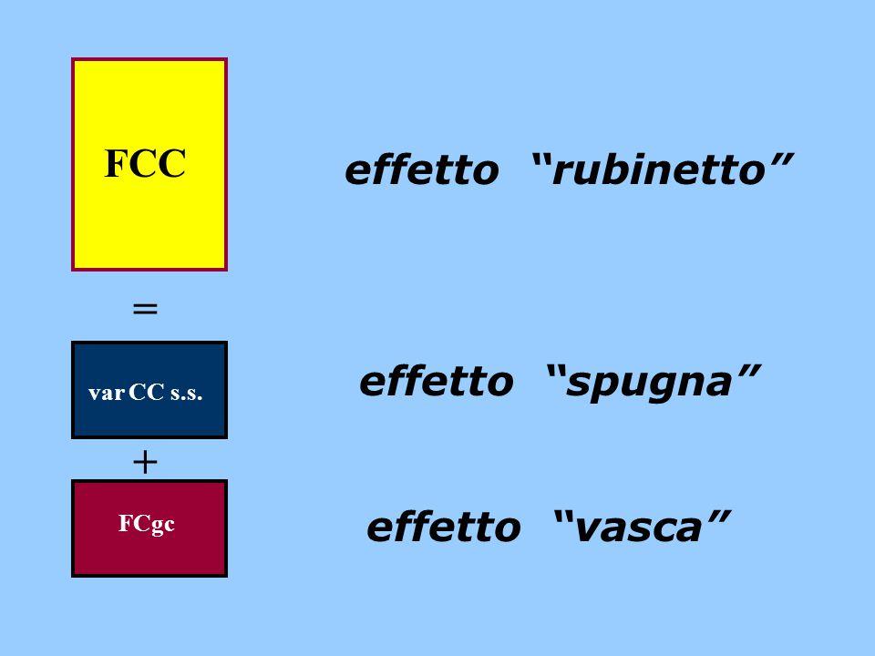 "FCC = var CC s.s. + FCgc effetto ""rubinetto"" effetto ""spugna"" effetto ""vasca"""