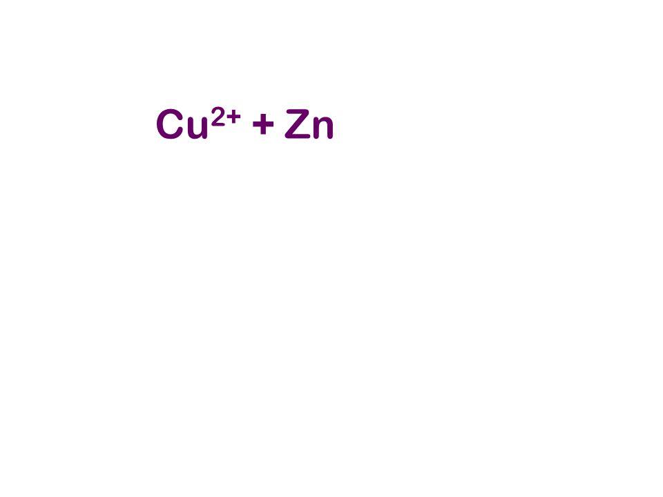 Cu 2+ + Zn