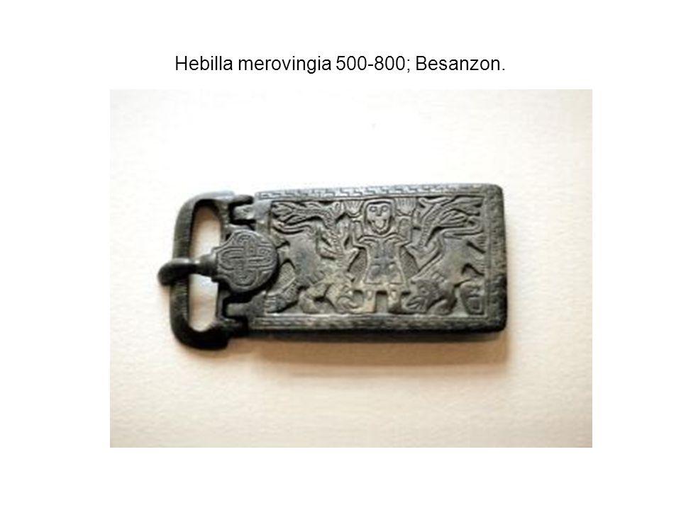 Hebilla merovingia 500-800; Besanzon.