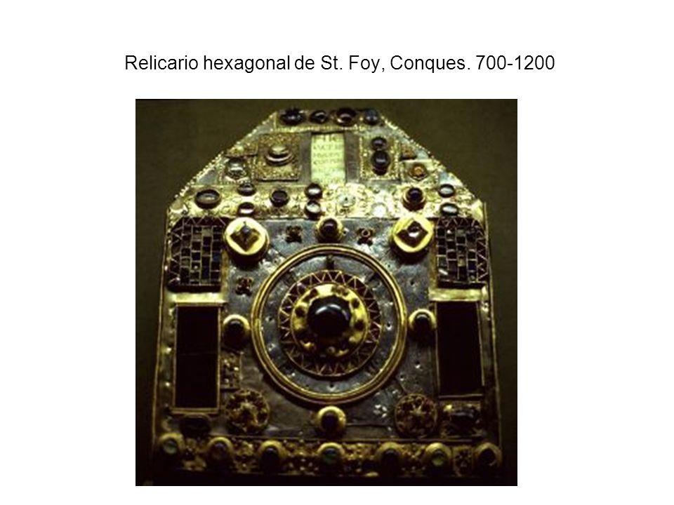 Relicario hexagonal de St. Foy, Conques. 700-1200
