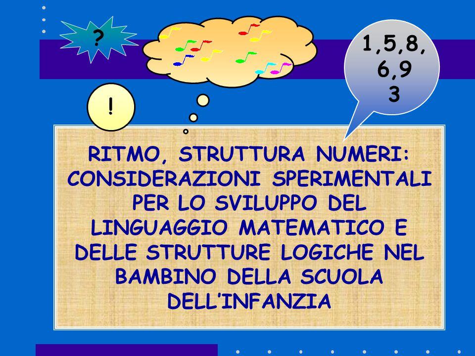 Campione e metodologia tre sezioni dell'ultimo anno della scuola dell'infanzia (per un totale di 63 bambini).