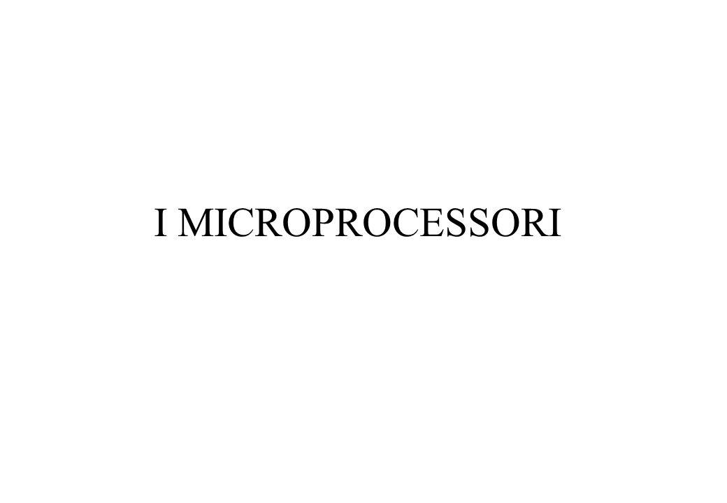 ARCHITETTURA DI UN MICROPROCESSORE Fondamentale per l'esecuzione di un programma è un registro chiamato PROGRAM COUNTER (PC).