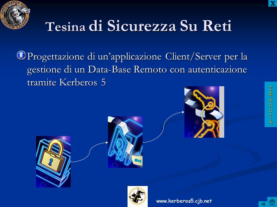Tesina di Sicurezza Su Reti Progettazione di un'applicazione Client/Server per la gestione di un Data-Base Remoto con autenticazione tramite Kerberos