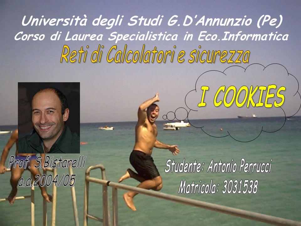Università degli Studi G.D'Annunzio (Pe) Corso di Laurea Specialistica in Eco.Informatica