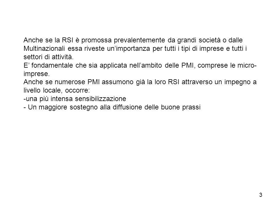 24 PMI della provincia di Ascoli Piceno e RSI: un'indagine esplorativa 25 aziende
