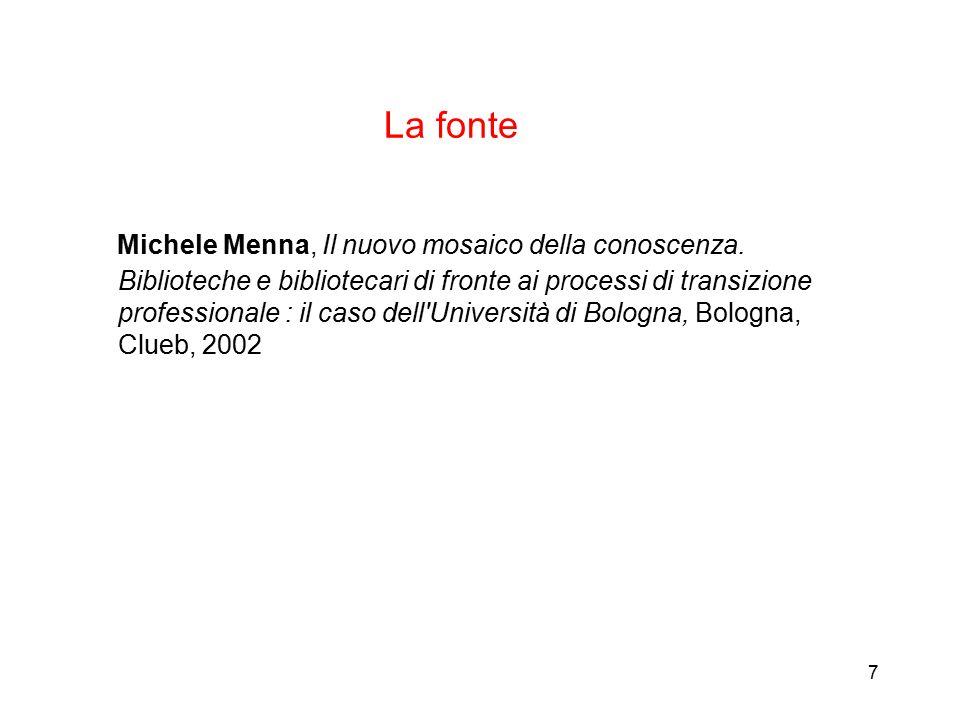 7 La fonte Michele Menna, Il nuovo mosaico della conoscenza.