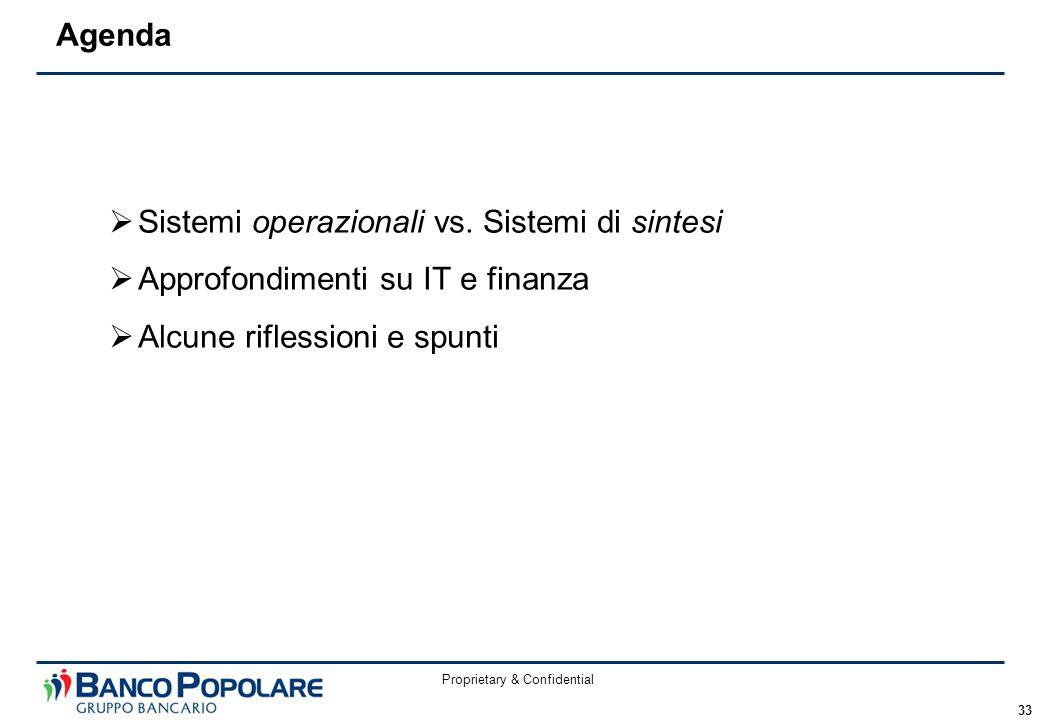 Proprietary & Confidential 33  Sistemi operazionali vs.