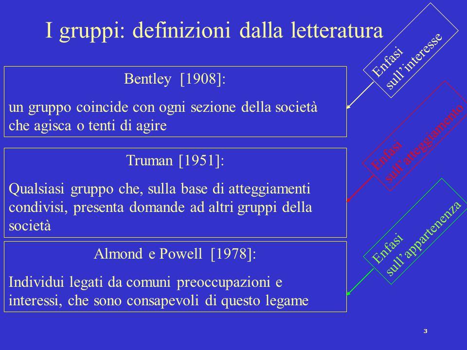 2 Riferimenti storici al fenomeno dei gruppi Le gilde (Medio evo) Le corporazioni (i Comuni italiani) I gruppi professionali (XIX secolo) I sindacati