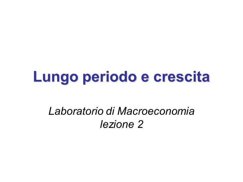 Lungo periodo e crescita Laboratorio di Macroeconomia lezione 2