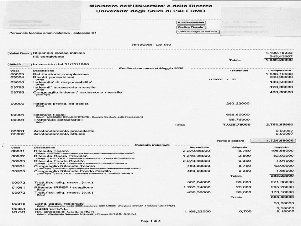 FLC CGIL UNIVERSITA' Esempio di busta paga