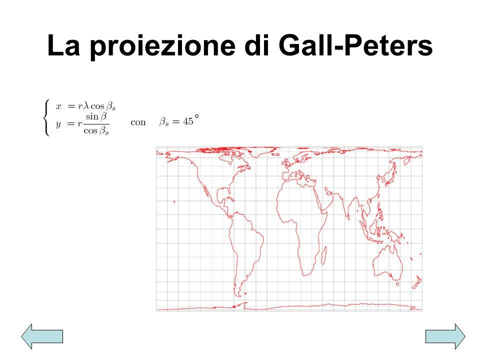 La proiezione di Gall-Peters °