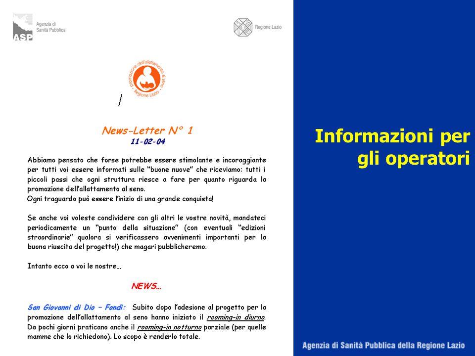 Informazioni per gli operatori
