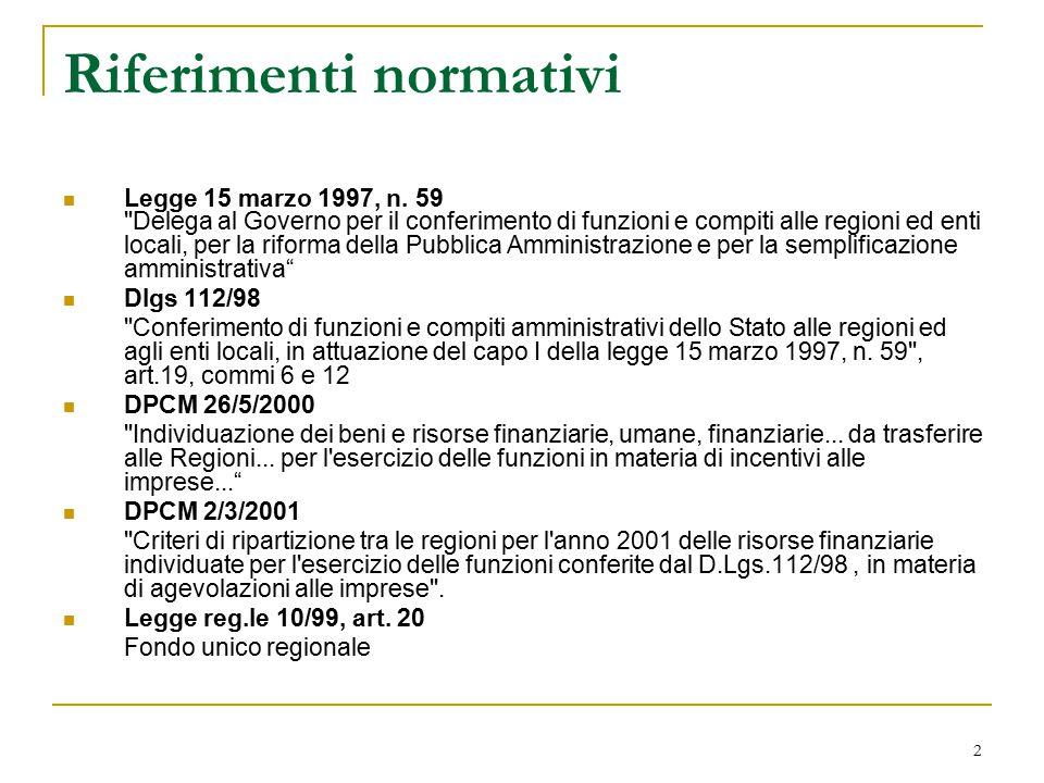 2 Riferimenti normativi Legge 15 marzo 1997, n.