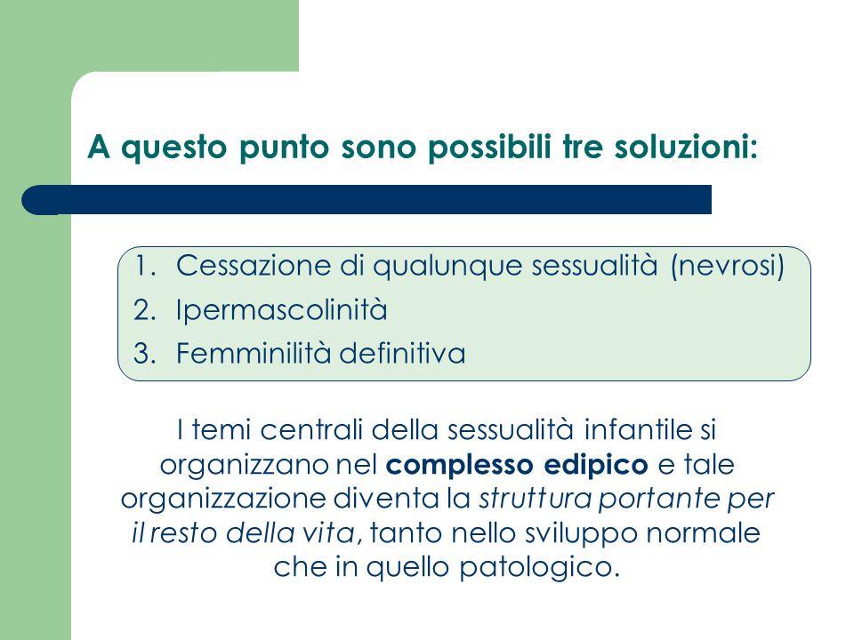 I temi centrali della sessualità infantile si organizzano nel complesso edipico e tale organizzazione diventa la struttura portante per il resto della