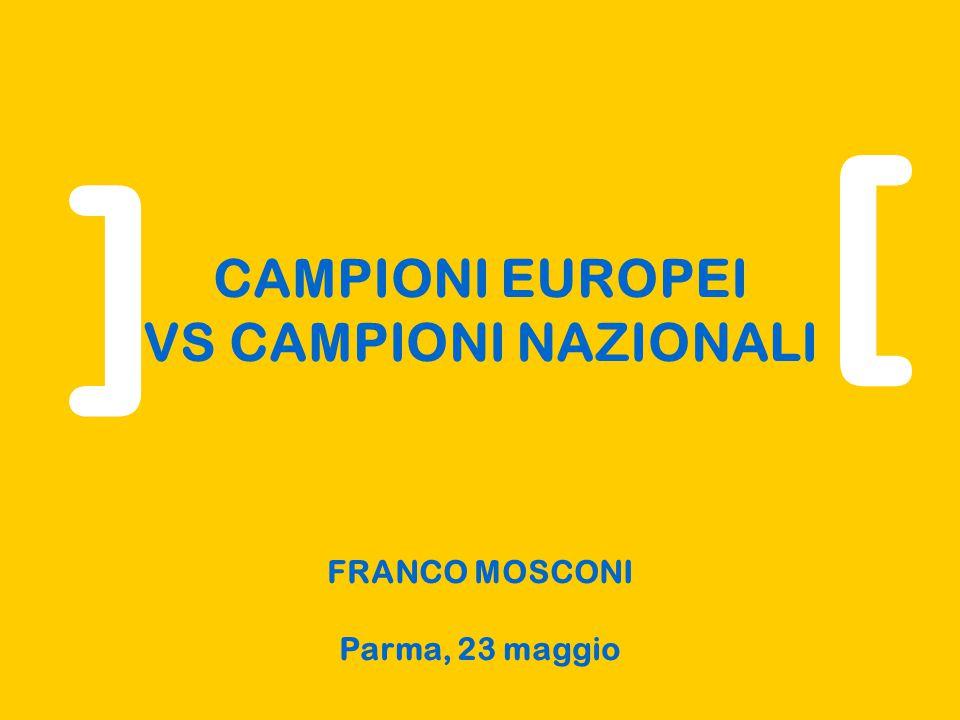 CAMPIONI EUROPEI VS CAMPIONI NAZIONALI FRANCO MOSCONI Parma, 23 maggio Sezione Scienze Economiche [ ]