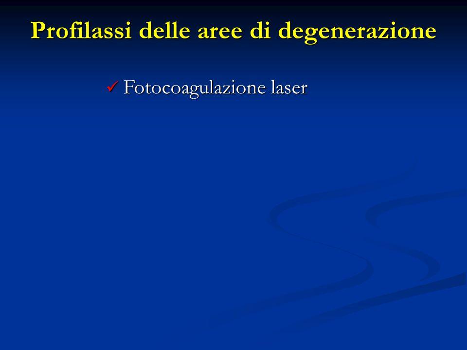 Fotocoagulazione laser Fotocoagulazione laser Profilassi delle aree di degenerazione