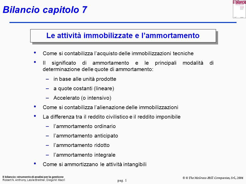 pag.2 Il bilancio: strumento di analisi per la gestione Robert N.