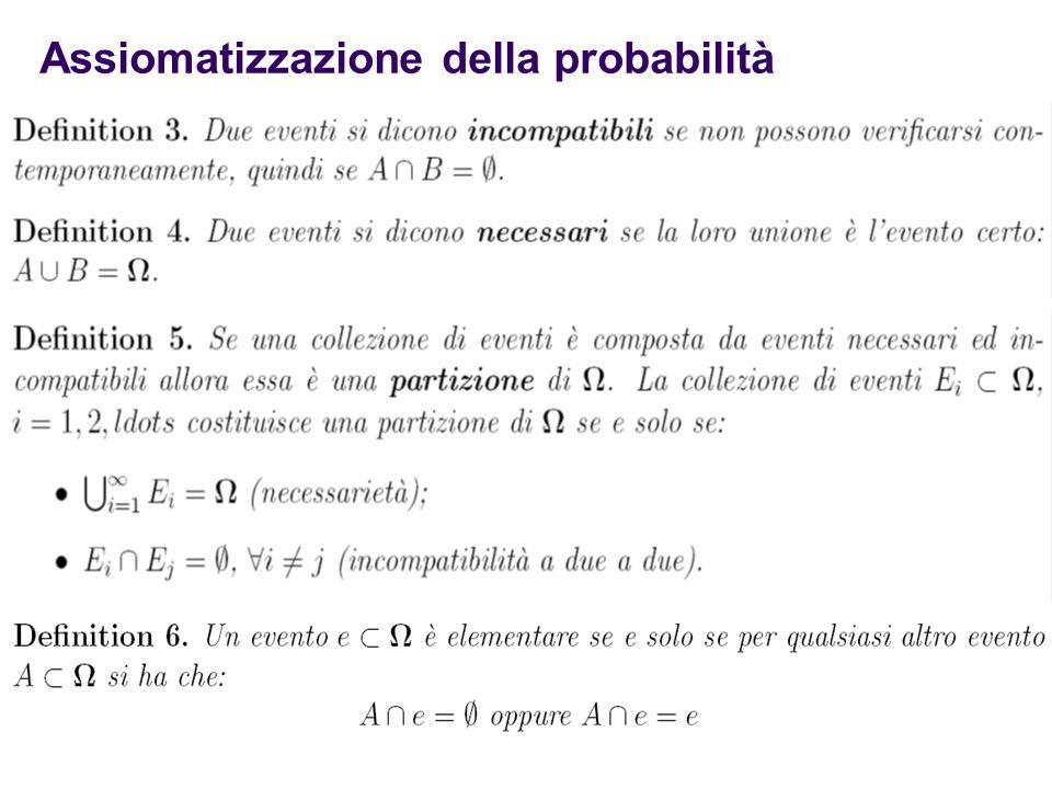 9 Assiomatizzazione della probabilità