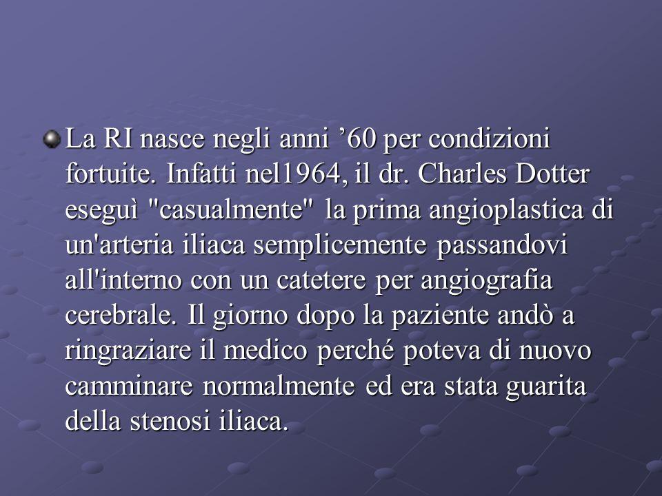 La RI nasce negli anni '60 per condizioni fortuite.