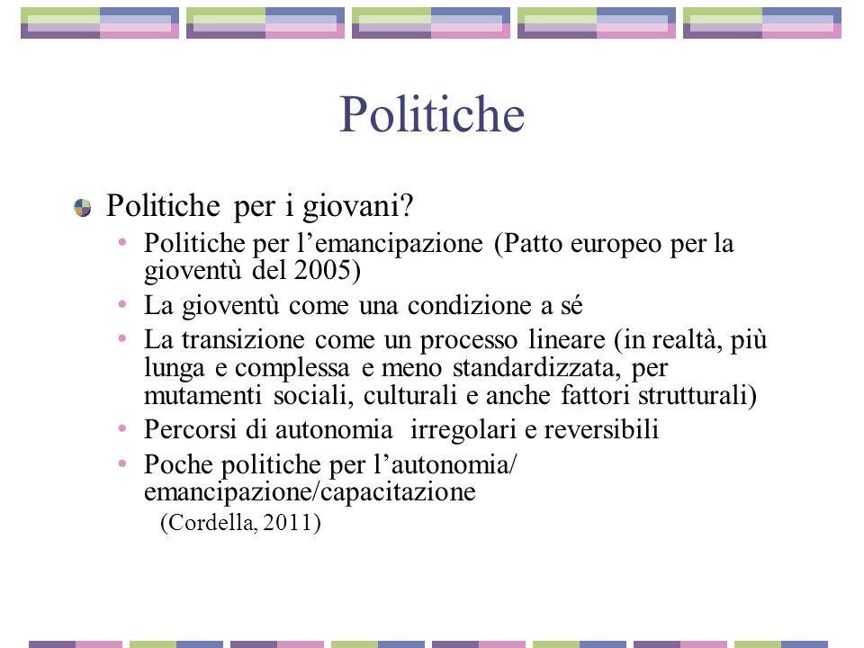 Politiche Politiche per i giovani.