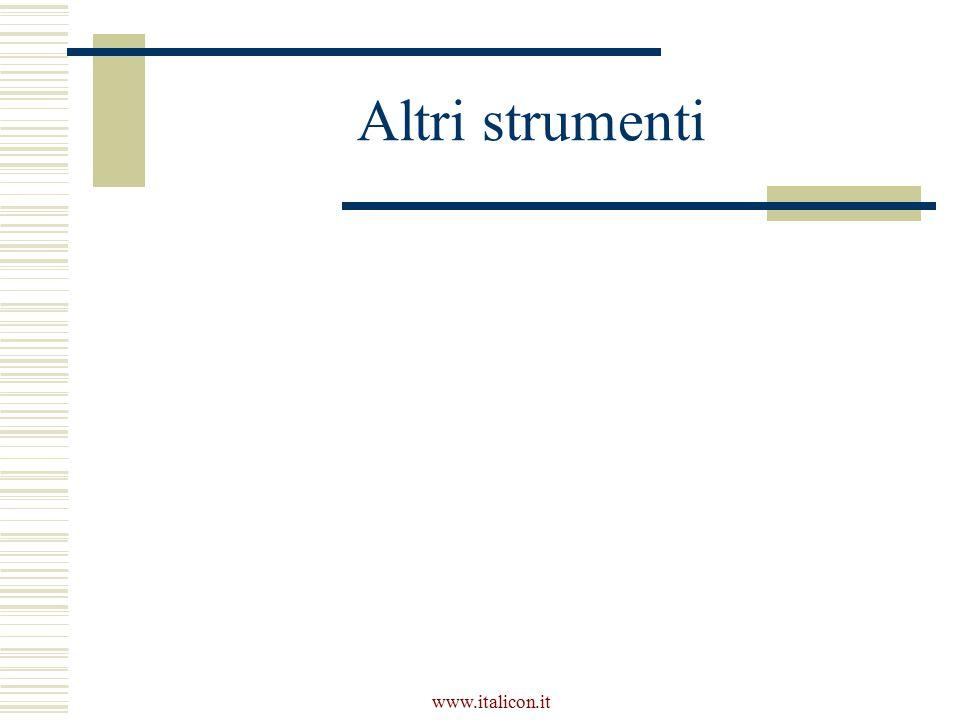 www.italicon.it Altri strumenti