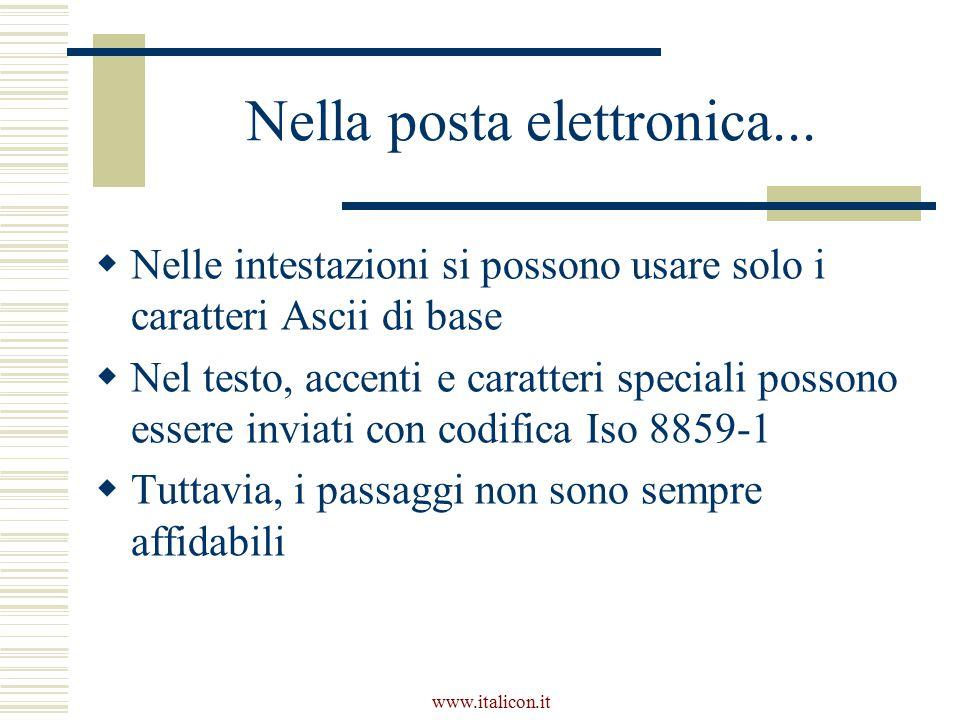 www.italicon.it Nella posta elettronica...