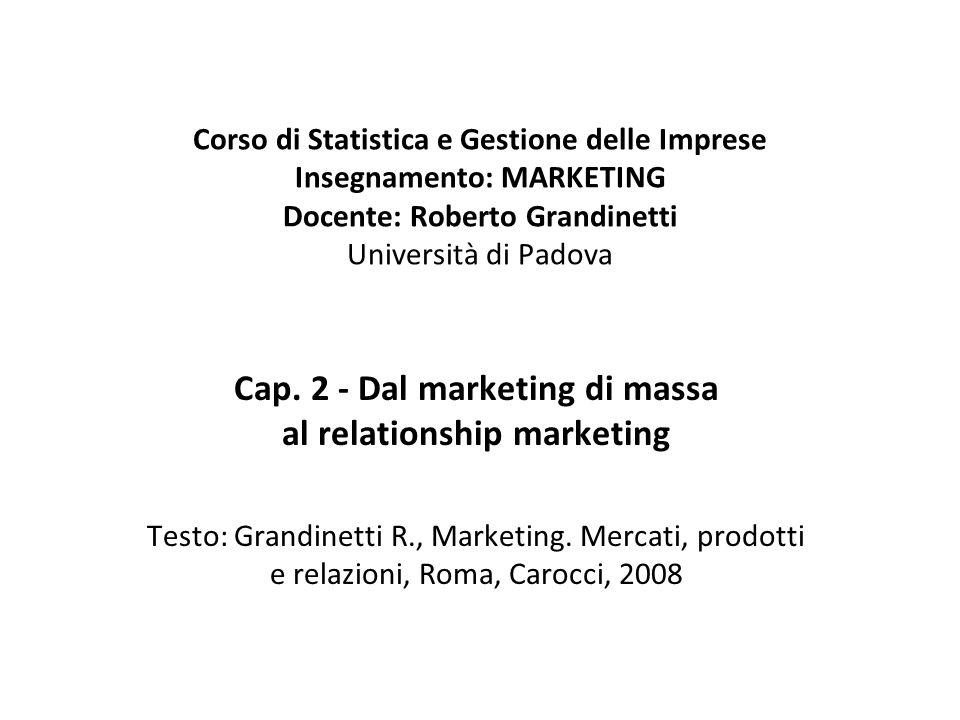 Dall'orientamento alla vendita all'approccio di marketing management