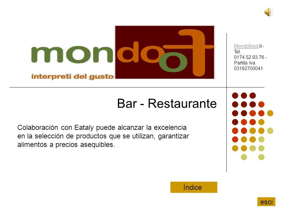 Bar - Restaurante Colaboración con Eataly puede alcanzar la excelencia en la selección de productos que se utilizan, garantizar alimentos a precios as