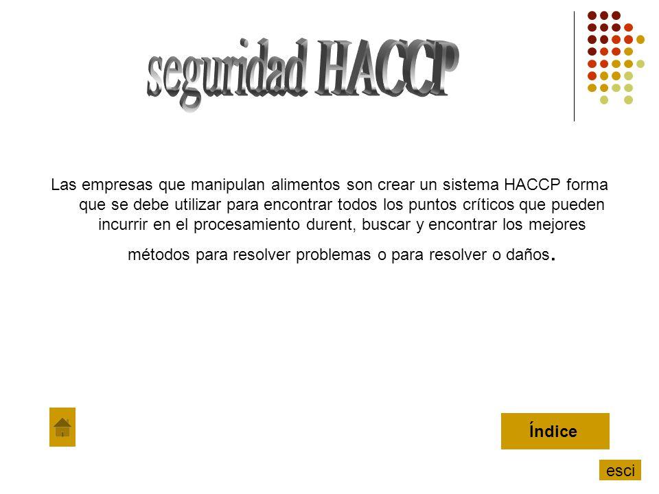 Las empresas que manipulan alimentos son crear un sistema HACCP forma que se debe utilizar para encontrar todos los puntos críticos que pueden incurri