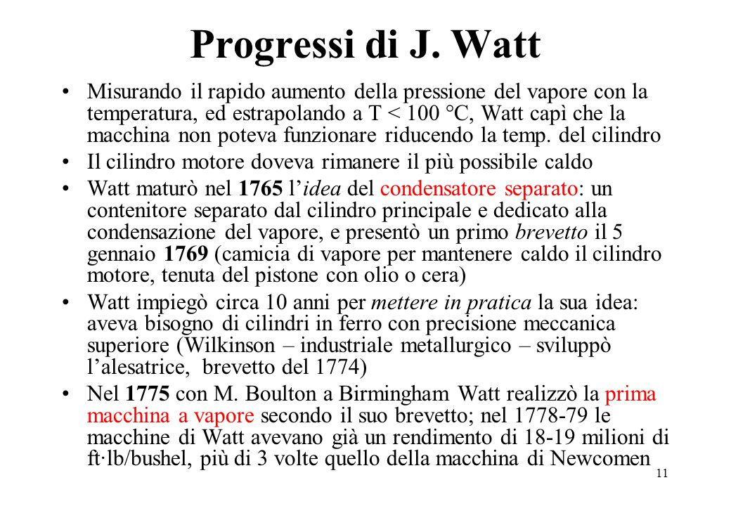 11 Progressi di J.