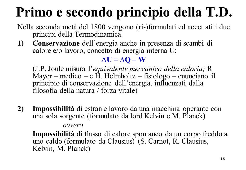 18 Primo e secondo principio della T.D.