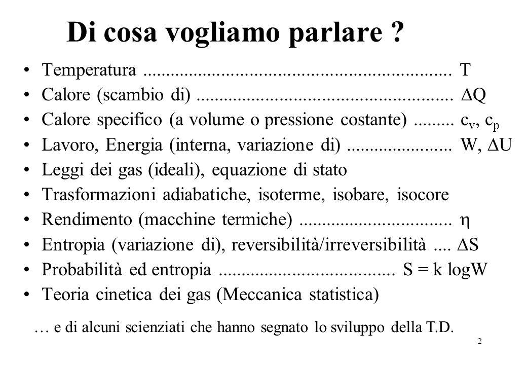 33 Entropia e numero di microstati Come viene raggiunto l'equilibrio termodinamico in un sistema isolato che parte da una condizione di non equilibrio .