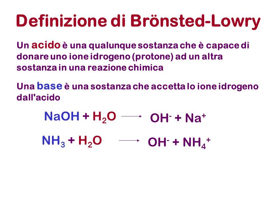 Non è infrequente il caso di una sostanza che in H2O puo' avere, in principio, una comportamento sia acido che basico.