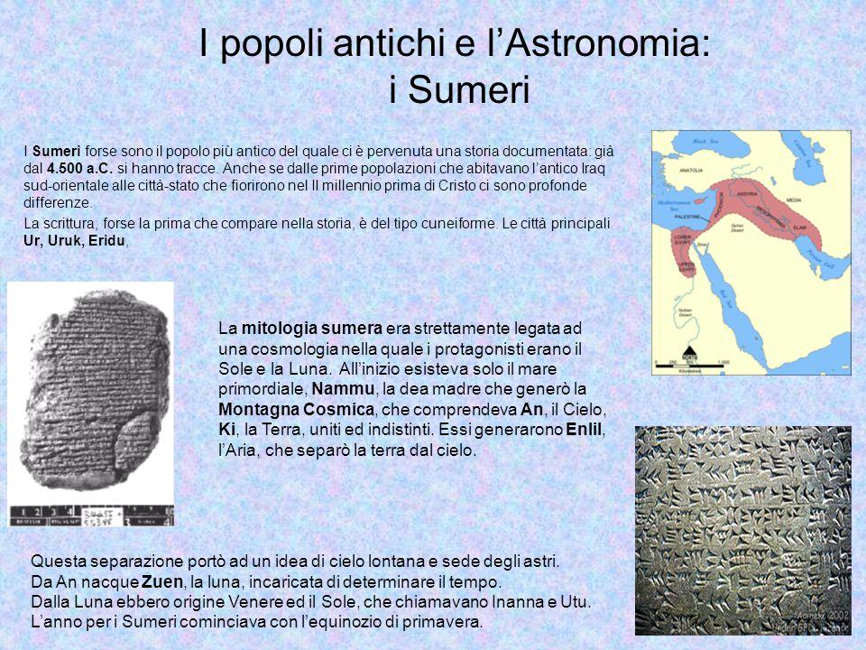 I Sumeri forse sono il popolo più antico del quale ci è pervenuta una storia documentata: già dal 4.500 a.C.