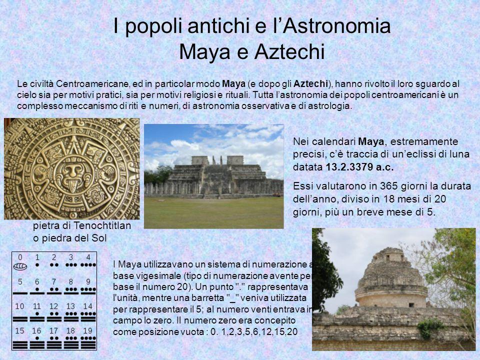 Si possono individuare tre momenti nei quali l'interesse per l'Astronomia ed i successi nella conoscenza del mondo celeste hanno un ruolo, una dimensione diversa.