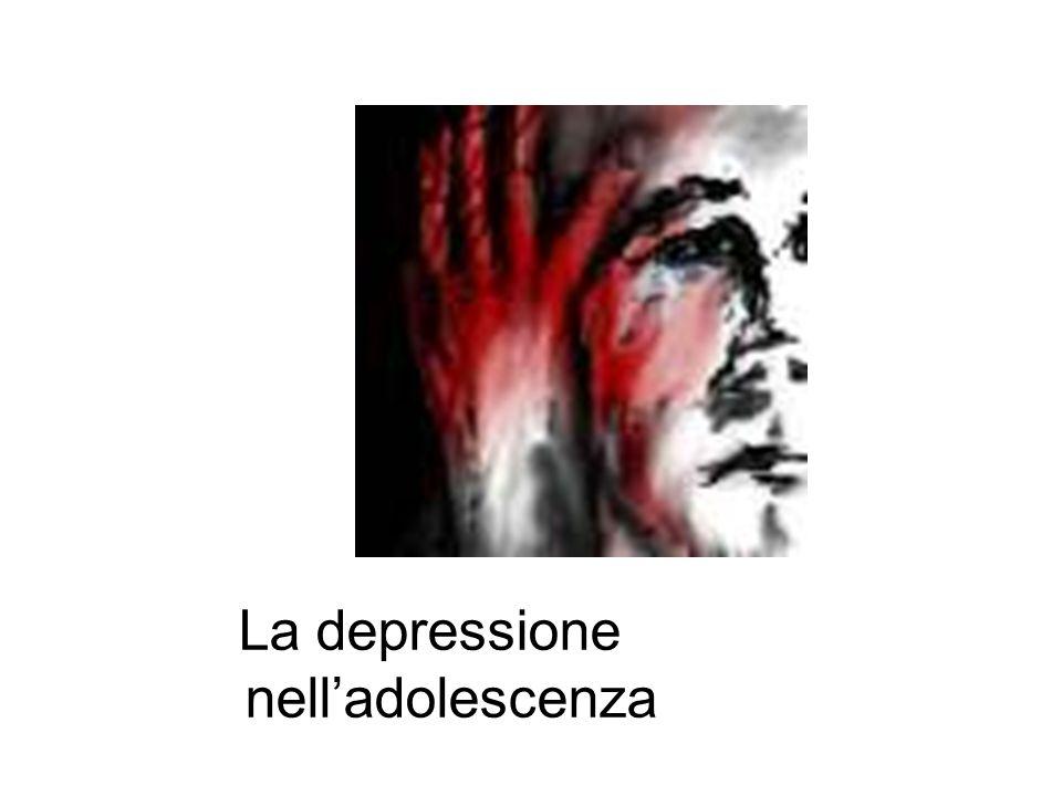 Il 20% degli adolescenti entro i 18 anni ha avuto un episodio depressivo significativo; il 65% ha mostrato sintomi depressivi minori Presenza di ritiro sociale, senso di incapacità, disturbi alimentari, disturbo del sonno, disturbo della libido Si può accompagnare a stati ansiosi, disregolazione emozionale, sintomi psicotici Sintomi che confondono il clinico nella diagnosi che può arrivare a scartare l'ipotesi depressiva