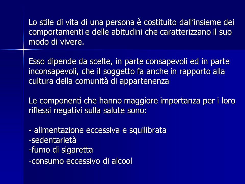 Valori soglia (oltre i quali sono documentati rischi per la salute): 40 g al giorno per gli uomini 40 g al giorno per gli uomini 20 g al giorno per le donne 20 g al giorno per le donne Bevitori eccessivi: > 60 g al giorno per gli uomini > 60 g al giorno per gli uomini > 40 g al giorno per le donne > 40 g al giorno per le donne Si determina uno stato alcolomania con tolleranza (porta ad aumentare la dose ingerita) e dipendenza bisogno di alcool ALCOOL