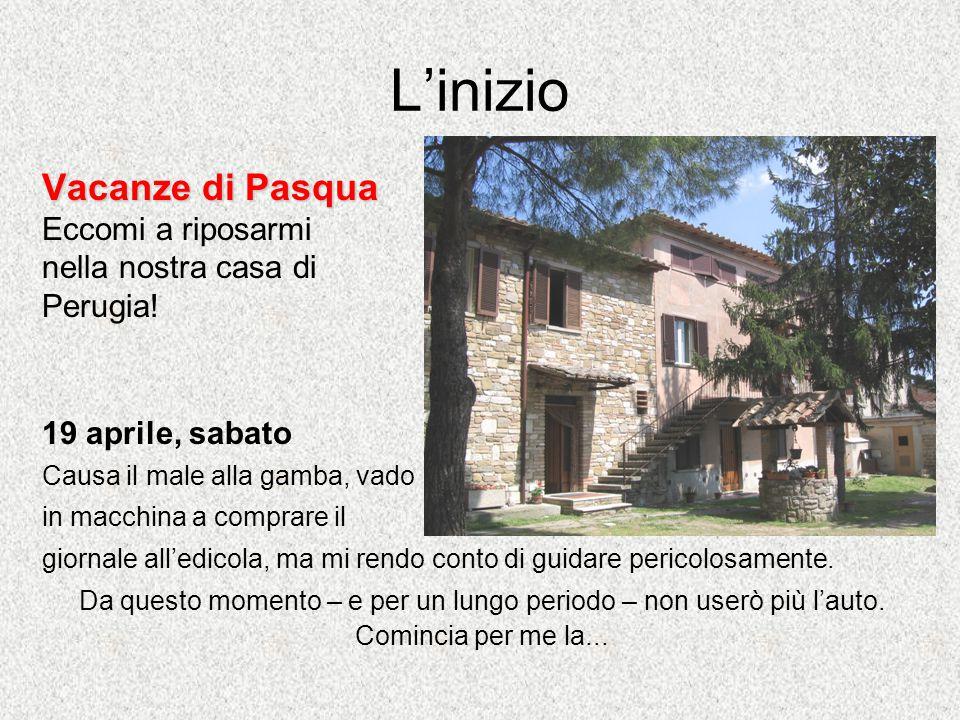 L'inizio Vacanze di Pasqua Eccomi a riposarmi nella nostra casa di Perugia.