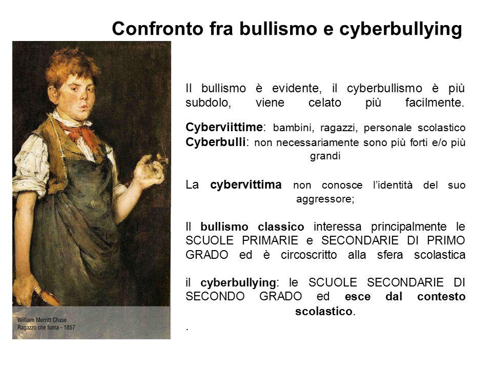 Il bullismo è evidente, il cyberbullismo è più subdolo, viene celato più facilmente.
