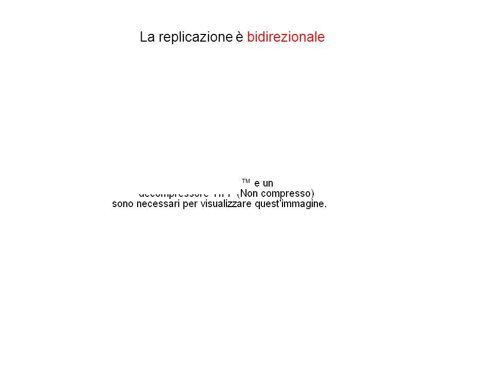 La replicazione è bidirezionale