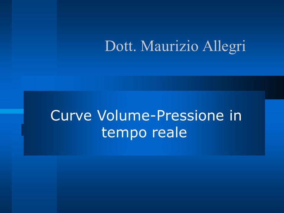 Dott. Maurizio Allegri Dr Maurizio Allegri Curve Volume-Pressione in tempo reale