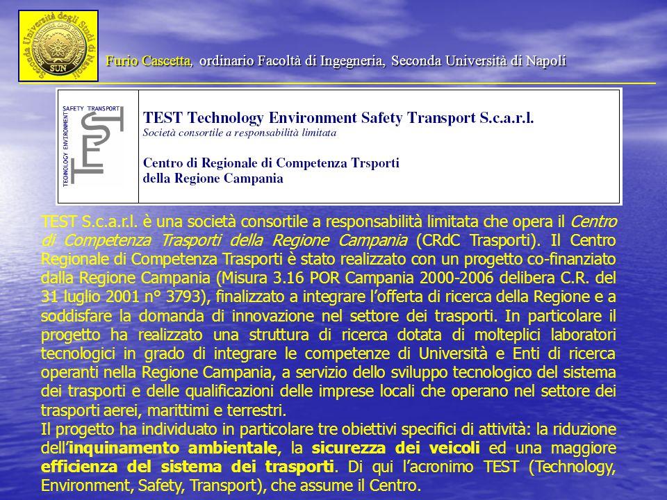 Furio Cascetta, ordinario Facoltà di Ingegneria, Seconda Università di Napoli TEST S.c.a.r.l.