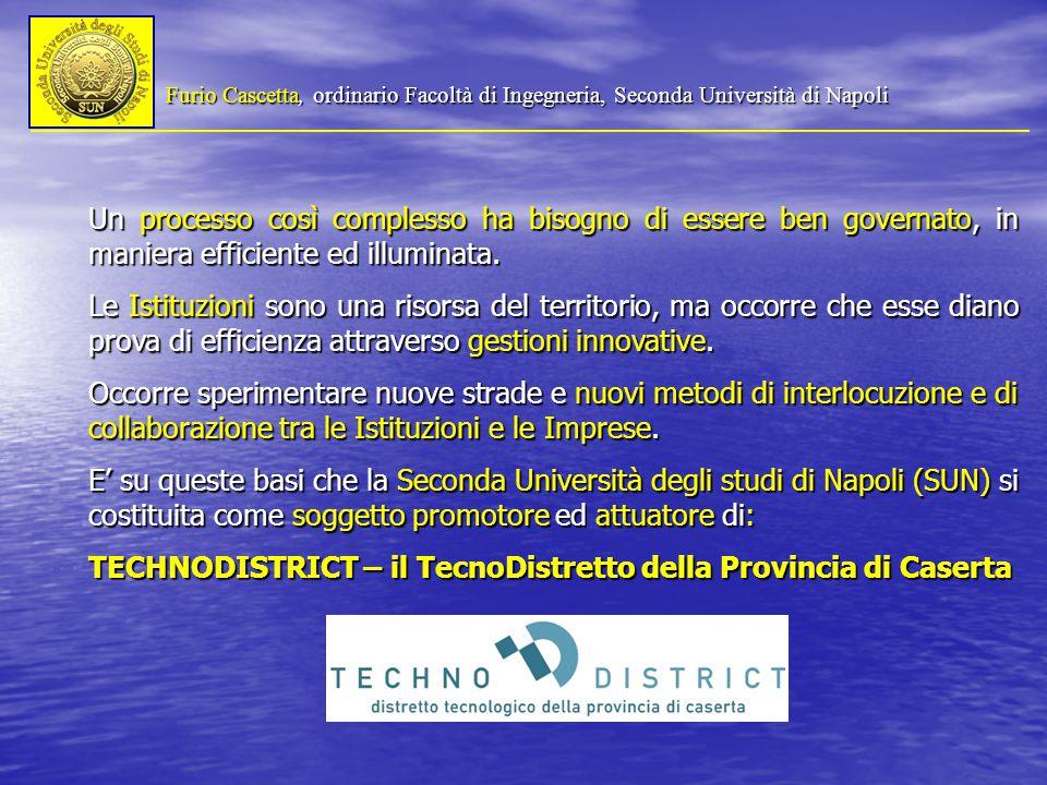 Furio Cascetta, ordinario Facoltà di Ingegneria, Seconda Università di Napoli Un processo così complesso ha bisogno di essere ben governato, in maniera efficiente ed illuminata.