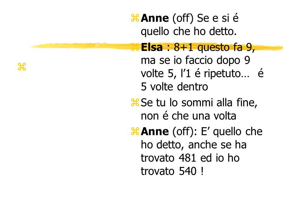 z z Anne (off) Se e si é quello che ho detto.
