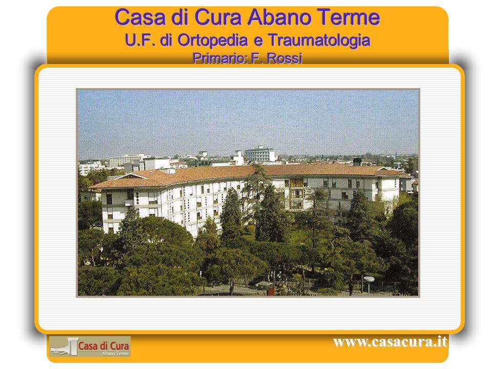 Casa di Cura Abano Terme U.F. di Ortopedia e Traumatologia Primario: F. Rossi www.casacura.it