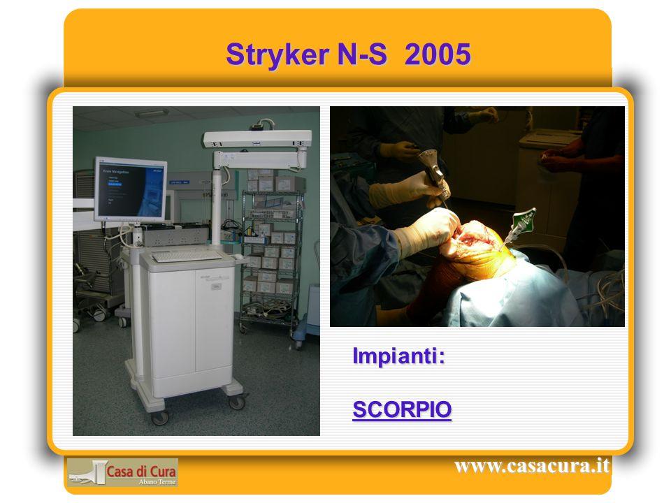 Stryker N-S 2005 Stryker N-S 2005 www.casacura.it Impianti:SCORPIO