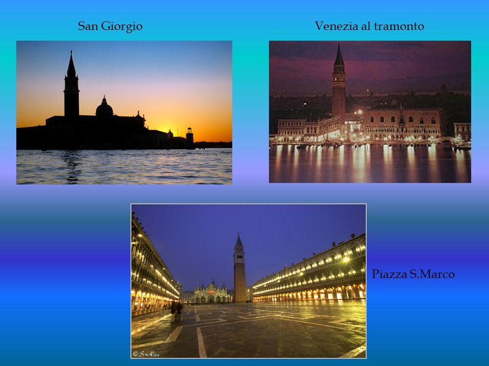 San Giorgio Piazza S.Marco Venezia al tramonto